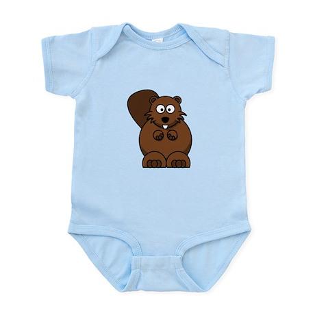 Cartoon Beaver Infant Bodysuit