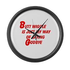 Butt Wiggle Large Wall Clock