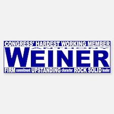Firm Upstanding Weiner Bumper Bumper Sticker