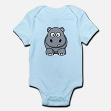 Cartoon Hippopotamus Infant Bodysuit