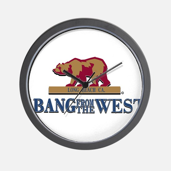 I Bang From The West Long Bea Wall Clock