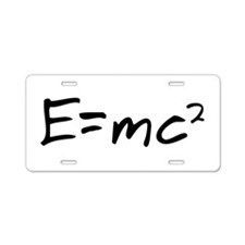 Theory of Relativity Aluminum License Plate