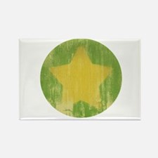 Vintage Yellow Star Rectangle Magnet