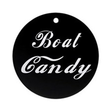 Boat Candy Ornament (Round)