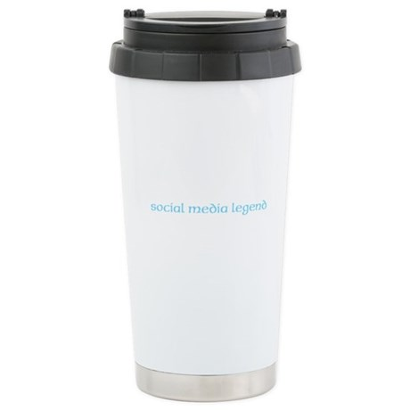 Social Buzz Stainless Steel Travel Mug