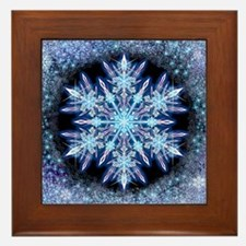 October Snowflake Framed Tile