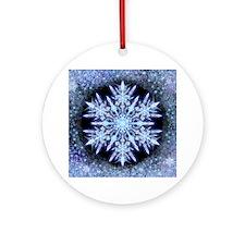 October Snowflake Ornament (Round)