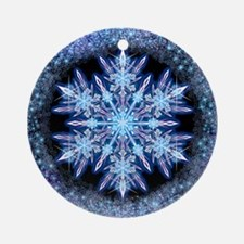 October Snowflake Ornament (Round)