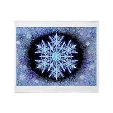 October Snowflake Throw Blanket