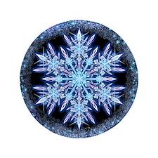 """October Snowflake 3.5"""" Button"""