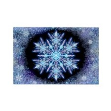 October Snowflake Rectangle Magnet (100 pack)