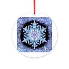 November Snowflake Ornament (Round)