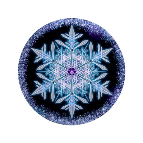 "November Snowflake 3.5"" Button (100 pack)"