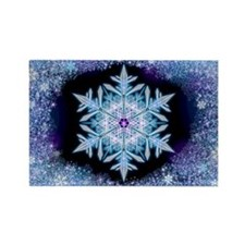 November Snowflake Rectangle Magnet (100 pack)