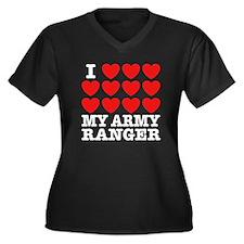 I Love My Army Ranger Women's Plus Size V-Neck Dar
