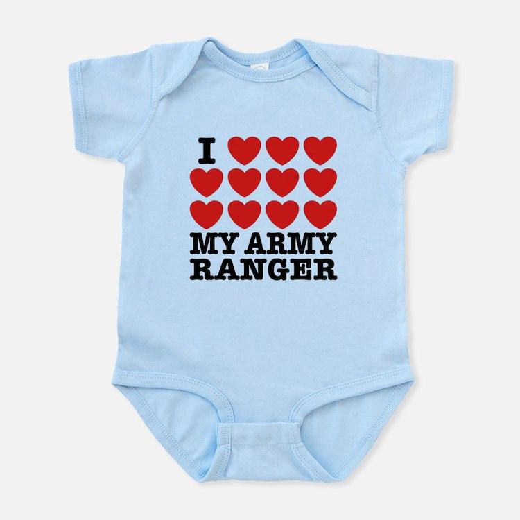 I Love My Army Ranger Infant Bodysuit
