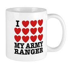 I Love My Army Ranger Small Mug