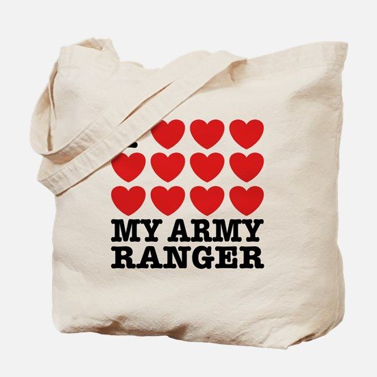 I Love My Army Ranger Tote Bag