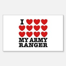I Love My Army Ranger Decal
