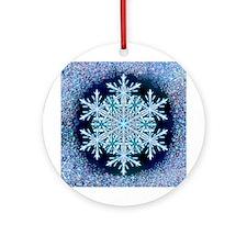 December Snowflake Ornament (Round)