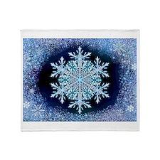 December Snowflake Throw Blanket