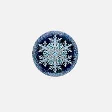 December Snowflake Mini Button