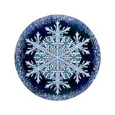 "December Snowflake 3.5"" Button"