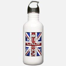 Keep Calm & Carry On Union Jack Water Bottle