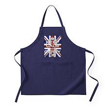 Keep Calm & Carry On Union Jack Apron (dark)