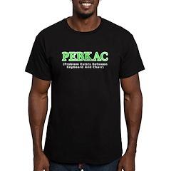 PEBKAC Men's Fitted T-Shirt (dark)