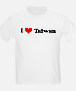 I Love Taiwan Kids T-Shirt