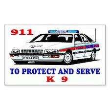 POLICE CAR K9 Decal