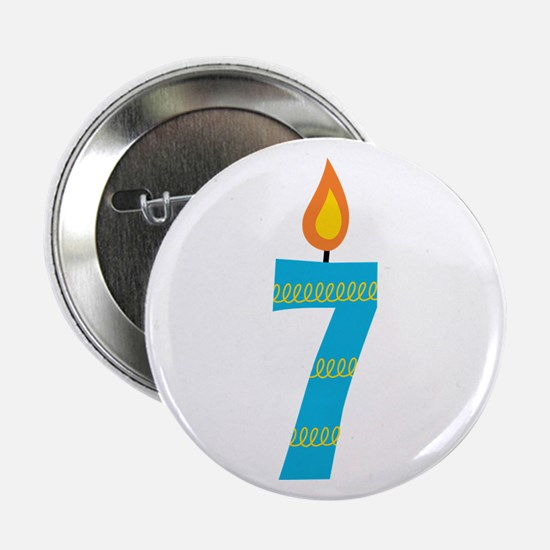 """7th Birthday Candle 2.25"""" Button"""