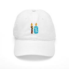10th Birthday Candle Baseball Cap