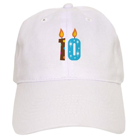 10th Birthday Candle Cap