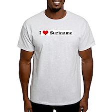 I Love Suriname Ash Grey T-Shirt