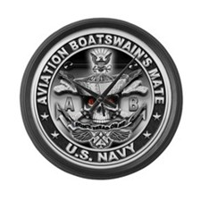 USN Aviation Boatswain's Mate Large Wall Clock