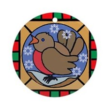 Robin Redbreast Holiday Ornament