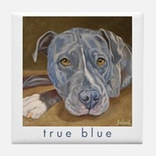 True Blue Tile Coaster