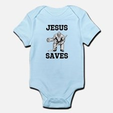 Jesus Saves - Hockey 1 Infant Bodysuit