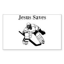 Jesus Saves - Hockey 3 Decal