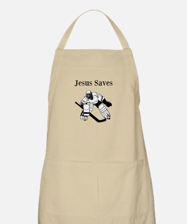 Jesus Saves - Hockey 3 Apron