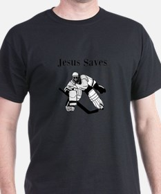 Jesus Saves - Hockey 3 T-Shirt