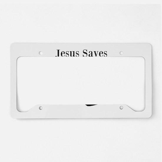 Jesus Saves - Hockey 3 License Plate Holder