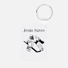 Jesus Saves - Hockey 3 Keychains