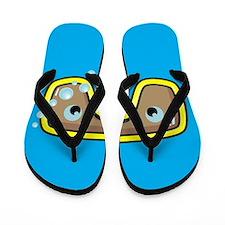 Yellow Goggles Flip Flops