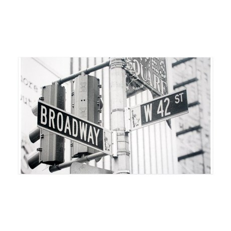 NY Broadway Times Square - 35x21 Wall Decal