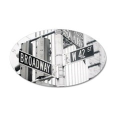 NY Broadway Times Square - 20x12 Oval Wall Decal