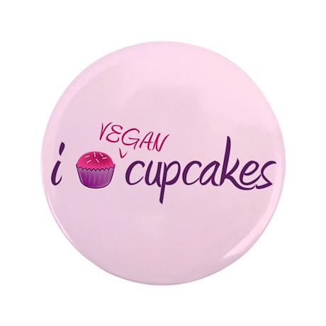 """Vegan Cupcakes 3.5"""" Button"""