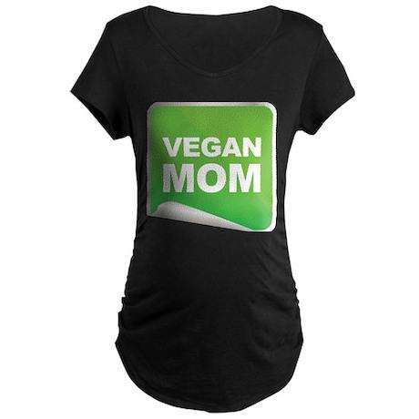 Vegan Mom Label Maternity Dark T-Shirt